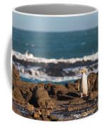 Adult Nz Yellow-eyed Penguin Or Hoiho On Shore Coffee Mug