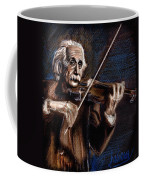 Albert Einstein And Violin Coffee Mug