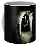 Altered Image Of A Tunnel In The Catacombs Of Paris France Coffee Mug