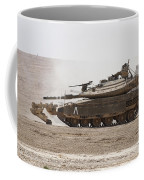An Israel Defense Force Merkava Mark Iv Coffee Mug