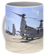 An Mv-22 Osprey Taxiing At Marine Corps Coffee Mug