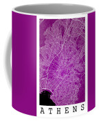 Athens Street Map - Athens Greece Road Map Art On Color Coffee Mug