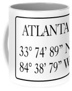Atlanta Coordinates Coffee Mug