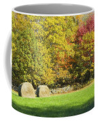 Autumn Hay Being Harvested In Maine Coffee Mug