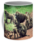 Baboons In African Bush Coffee Mug