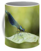 Banded Demoiselle Digital Art Coffee Mug