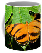 Banded Orange Butterfly Coffee Mug