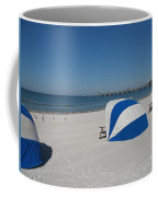 Beach With Beachchairs Coffee Mug