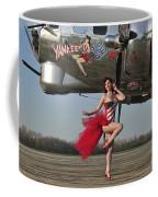 Beautiful 1940s Style Pin-up Girl Coffee Mug