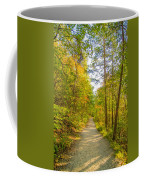 Beautiful Autumn Forest Mountain Stair Path At Sunset Coffee Mug