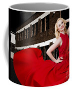 Beautiful Sexy Blond Girl Wearing A Long Dress Coffee Mug
