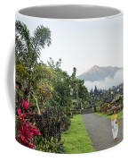Besakih Temple And Mount Agung View In Bali Indonesia Coffee Mug