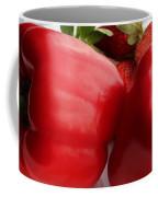 Big Red Peppers And Strawberries  Coffee Mug