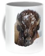 Bison In Snow Coffee Mug