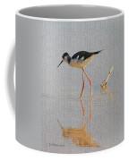 Black Neck Stilt Coffee Mug