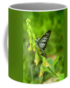 Blue Butterflies In The Green Garden Coffee Mug