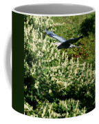 Blue Heron Flight  Coffee Mug