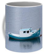 Blue Moored Boat Coffee Mug