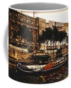 Boats On The Seine Coffee Mug