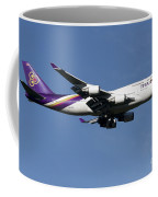 Boeing 747-400 Of Thai International Coffee Mug