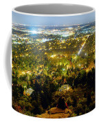 Boulder Colorado City Lights Panorama Coffee Mug