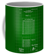 Bowling Score Sheet Patent 1904 - Green Coffee Mug
