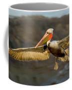 Brown Pelican In Flight Coffee Mug