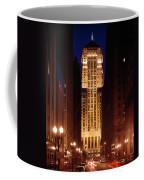Buildings Lit Up At Night, Chicago Coffee Mug