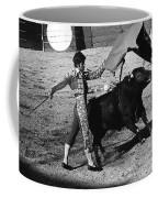 Bull Fight Matador Charging Bull Us-mexico  Border Town Nogales Sonora Mexico 1978-2012 Coffee Mug