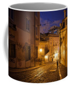 Calcada Da Gloria Street At Night In Lisbon Coffee Mug
