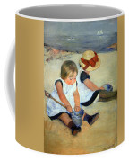 Cassatt's Children Playing On The Beach Coffee Mug