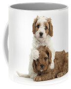Cavapoo Puppies Hugging Coffee Mug