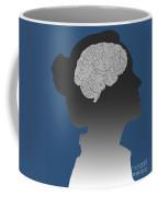 Cerebral Activity In Woman Coffee Mug