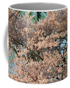 Cherry Blossoms In Pink And Brown Coffee Mug
