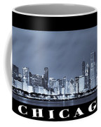 Chicago Skyline At Night Coffee Mug