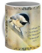 Chickadee With Verse Coffee Mug