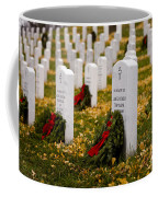 Christmas Wreaths Laid At The Arlington Cemetery Coffee Mug