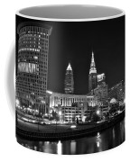 Cleveland In Black And White Coffee Mug
