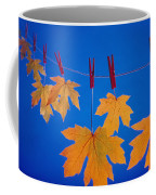 Close-up Of Fall Colored Maple Leaves Coffee Mug