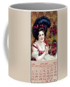 Coca - Cola Vintage Calendar Coffee Mug
