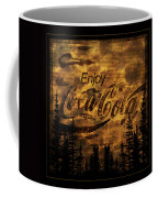 Coca Cola Wooden Sign Coffee Mug