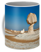 Cock And Mushroom Formation In White Desert Coffee Mug