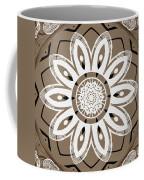 Coffee Flowers 8 Olive Ornate Medallion Coffee Mug