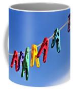 Colorful Clothes Pins Coffee Mug
