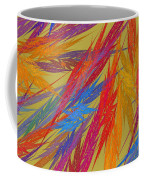 Computer Generated Abstract Fractal Flame Coffee Mug