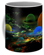 Computer Generated Spheres Abstract Fractal Flame Art Coffee Mug