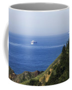 Container Ship On Open Water Coffee Mug