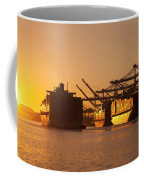 Container Ships Docked In Port Of Oakland Coffee Mug