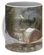 Country Road And Barn In Winter Maine Coffee Mug by Keith Webber Jr