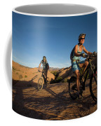 Couple Mountain Biking, Moab, Utah Coffee Mug